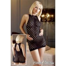 430к) Платье чёрное, трикотажное в дырочку.