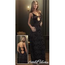 425) Платье чёрное длинное