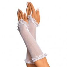437кш) Перчатки белые, сеточка