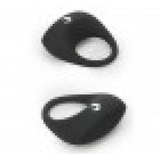 859ш) Виброкольцо силиконовое, черное, влагозащитное