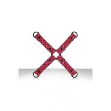 656кш)  Фиксация крестообразная Sinful Hogtie розовая